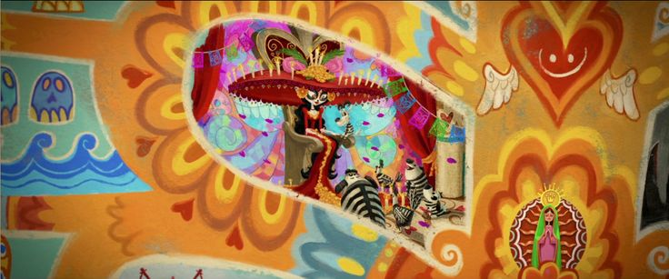 Scene from animation movie: 'The book of life'