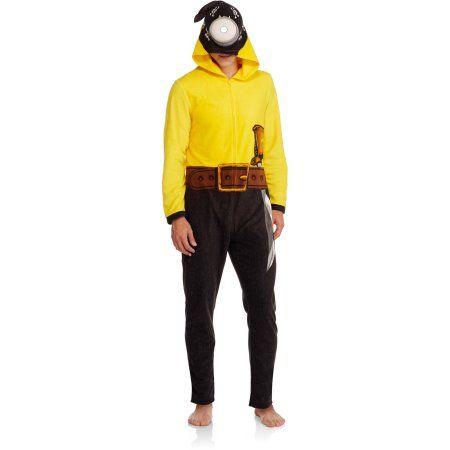 Minions Big Men's Onesie Pirate Union Suit, Size: 2XL, Yellow
