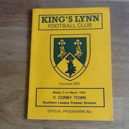 Home to Corby Town  31/03/1986   Southern League