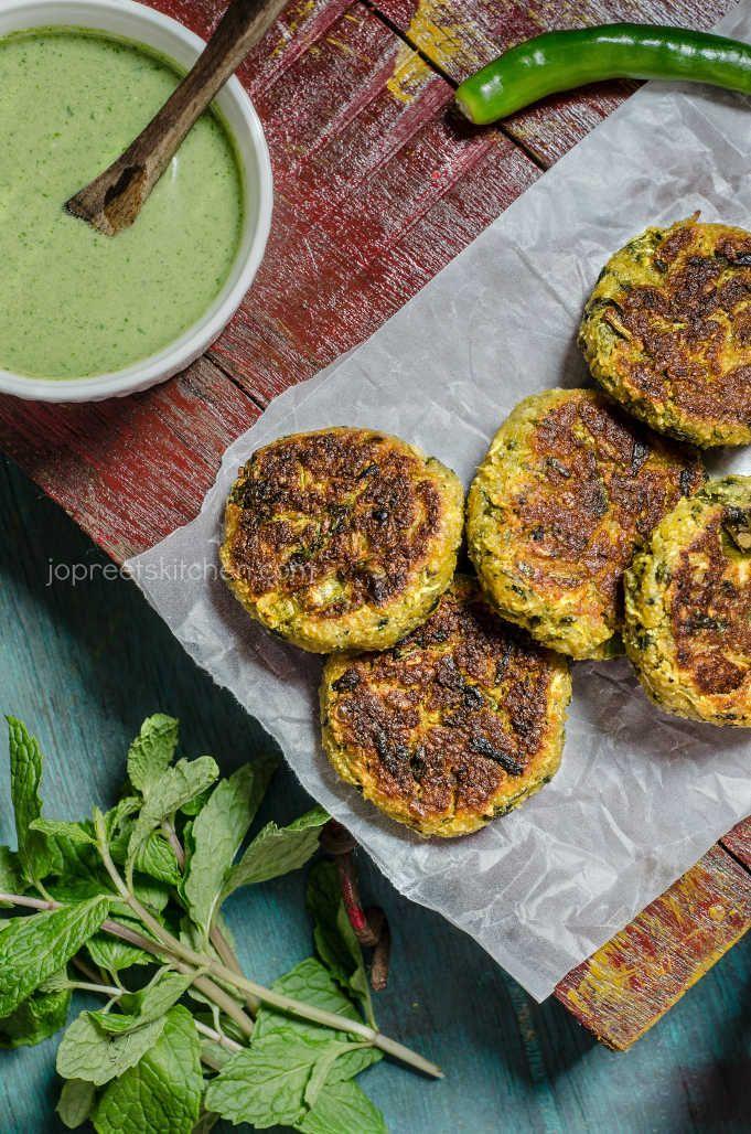Zucchini, Paneer & Sweet Potato Cutlet with Dates Tamarind Chutney