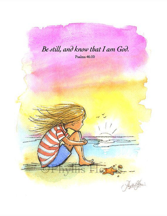 #Inspirational Wall Art #Be Still und wissen, dass ich Gott bin von #PhyllisHarrisDesi …   – Frames