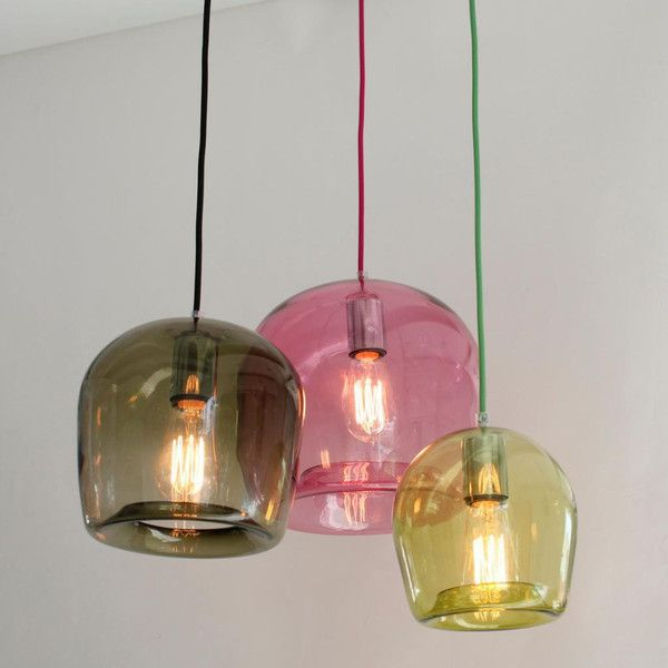 Ivy, coloured glass pendants by Mark Douglass Design $380 (Medium)