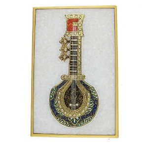Painting India Embossed Miniature Painting of Indian Music Instruments on Marble Plate (Kitchen)  http://documentaries.me.uk/other.php?p=B0069LG8CS  B0069LG8CS