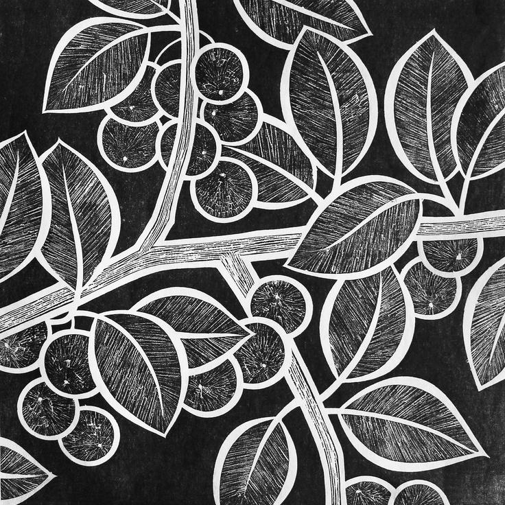 "Linoleum Print Designs ""Sloe Gin"" l..."
