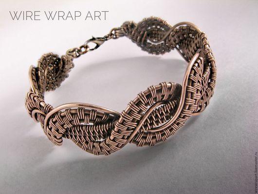 Браслеты ручной работы. Ярмарка Мастеров - ручная работа. Купить Браслет Кипр wire wrap медь. Handmade. Комбинированный, подарок