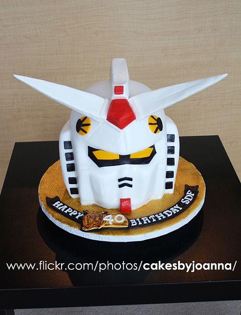 Gundam Cake By Thecakinggirl Via Flickr Power Ranger Pinterest