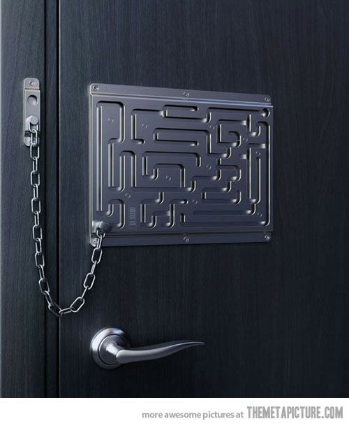 Be patient, I'll be right with you…: Doors, Door Locks, Ideas, Stuff, Funny, The Door, Things, Design