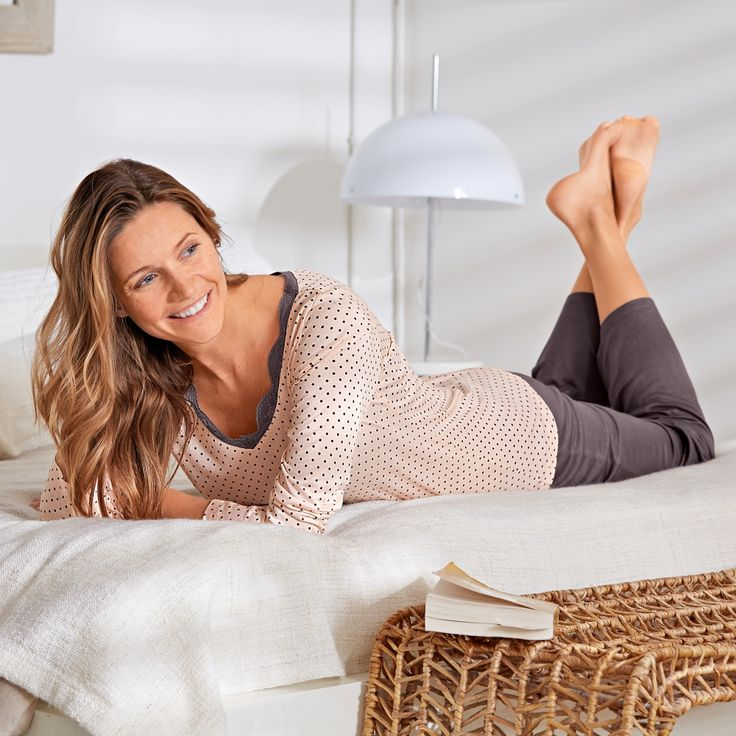 Pyjama Blancheporte avec empiècements dentelle pour paresser en beauté…