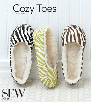 Keep your toes cozy and warm with this easy sew pattern and project.
