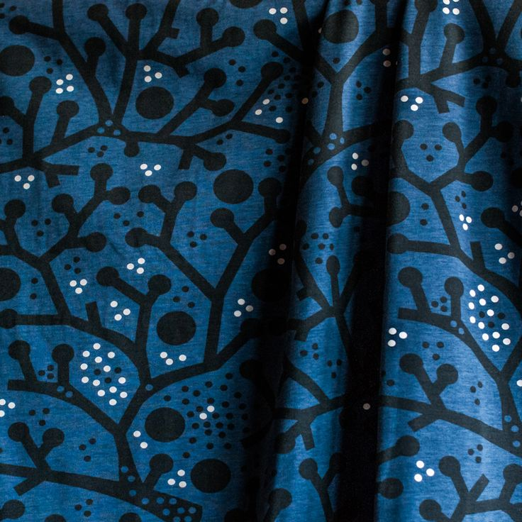 PaaPii Design - Twigs luomujersey, mustikka