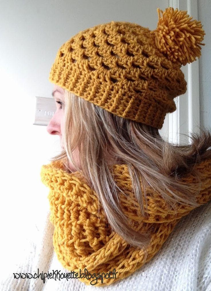 N°205 : snood et bonnet au crochet