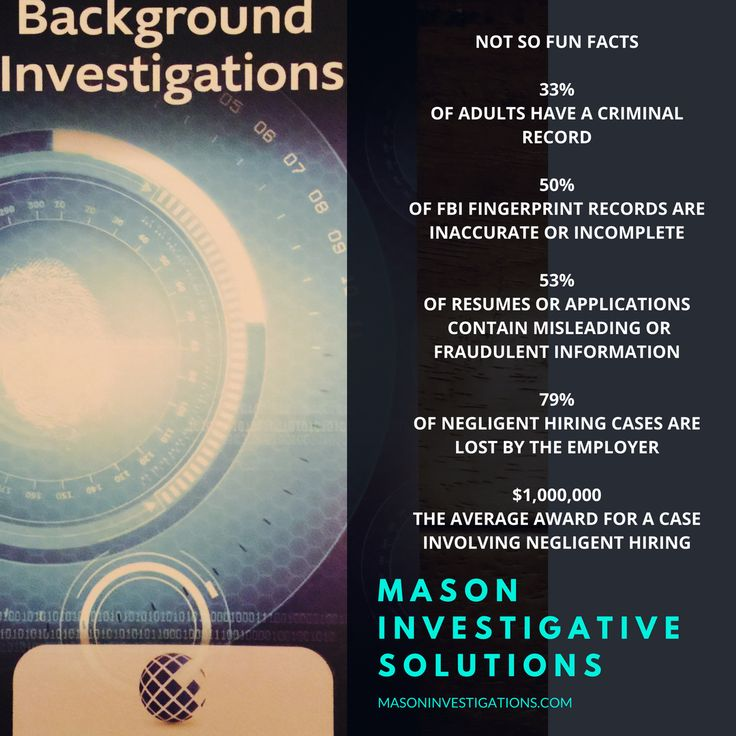 Thorough Background Checks are a most for any employee or caregiver. Fingerprint background checks are NOT adequate. Contact Mason Investigative Solutions at 800-653-1128 or info@masoninvestigations.com to learn more.