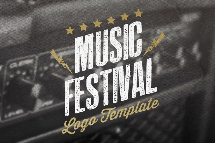 Image of Music Festival Logo Template