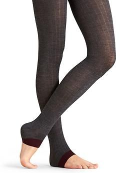 Ribbed No Toe Tight - The toeless heel-warming tights that let you get a grip on every twist and turn in life.