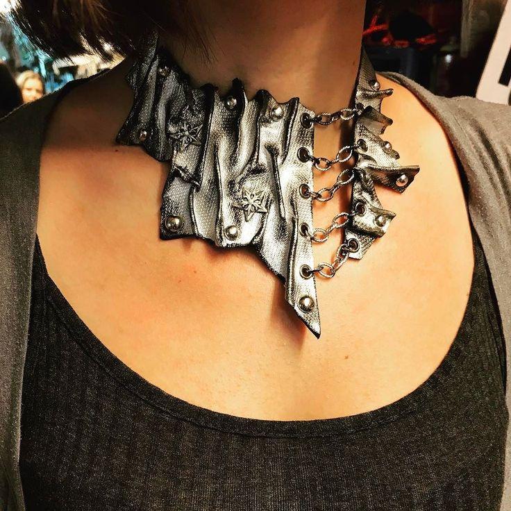 ...next chapter...:) unique handmade leather necklace by EvilEve.#evilevedesign #evileve #leathernecklace #rocker #fashionistas #necklaces