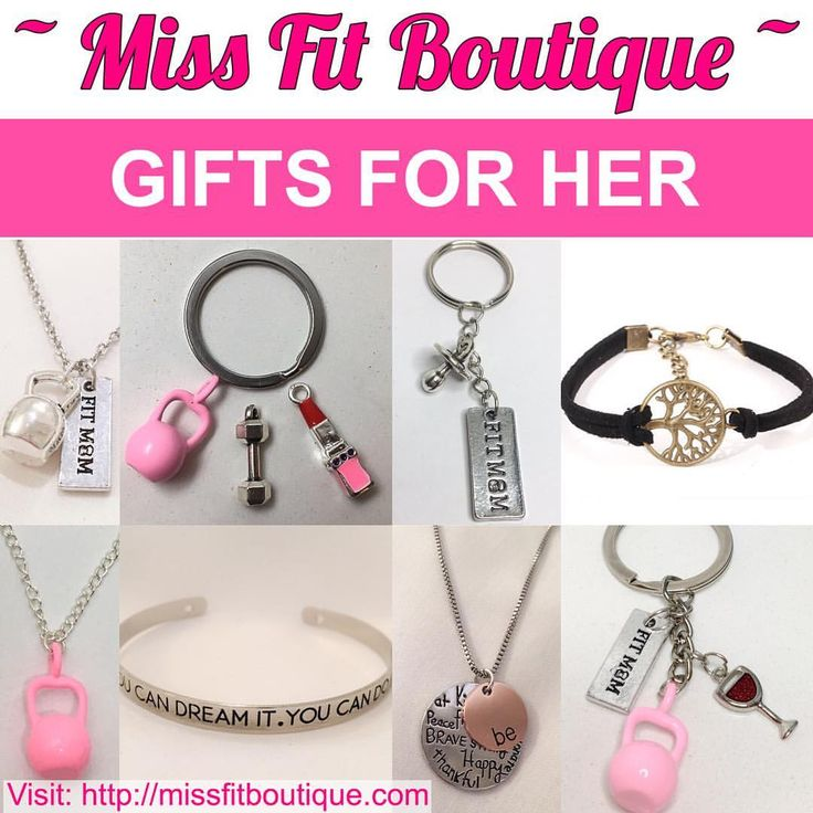"""377 Likes, 1 Comments - Motivational Fitness Jewelry (@missfitboutique) on Instagram: """"💖 GIFT IDEAS FOR HER 💖 Save 50% OFF During Out Mother's Day Sale ending at midnight (EST) on…"""""""