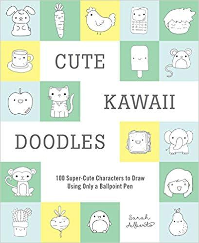 Pdf Download Cute Kawaii Doodles Guided Sketchbook 100 Super