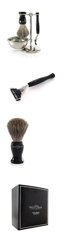 Shaving Brushes and Mugs: Edwin Jagger Shaving Gift Set - Pure Badger Shaving Brush Gillette Mach 3 Raz... -> BUY IT NOW ONLY: $103.13 on eBay!
