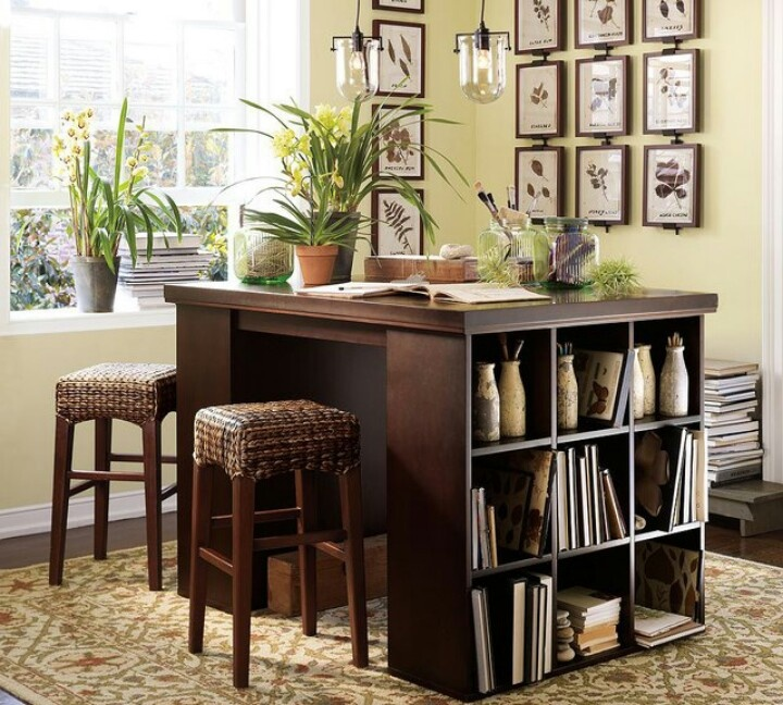 Diy Desk From Two Cube Storage Units Ideas Pinterest