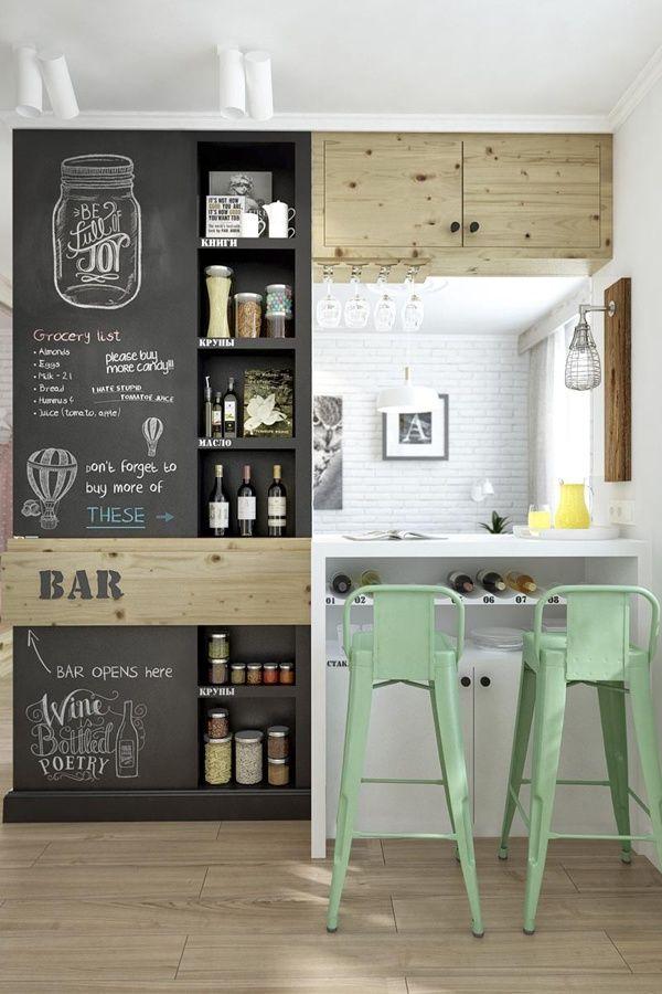 cambiar la cocina 4 - pizarra en la pared