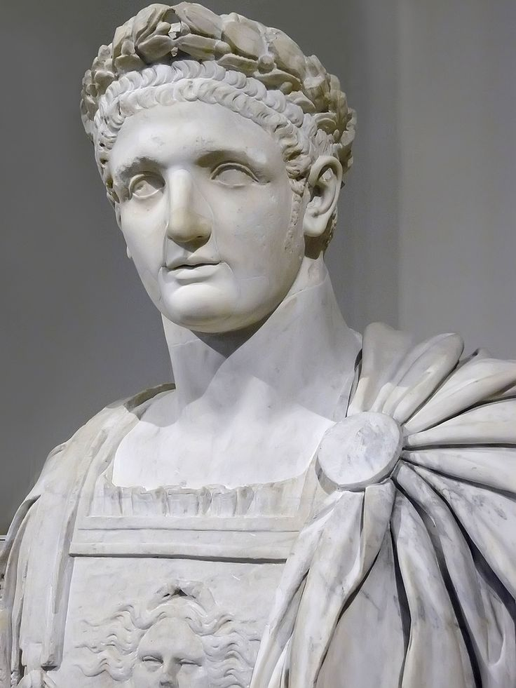 Bust of the Roman Emperor Domitian 1st century CE Marble (1)