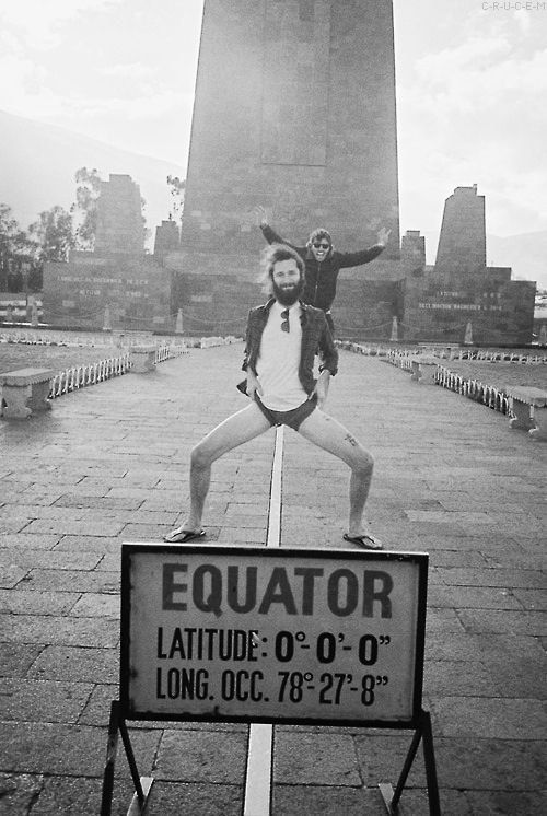 Be as cool as this guy and stand on the Equator. Haha awesome. I hope I pose just as good as this guy.