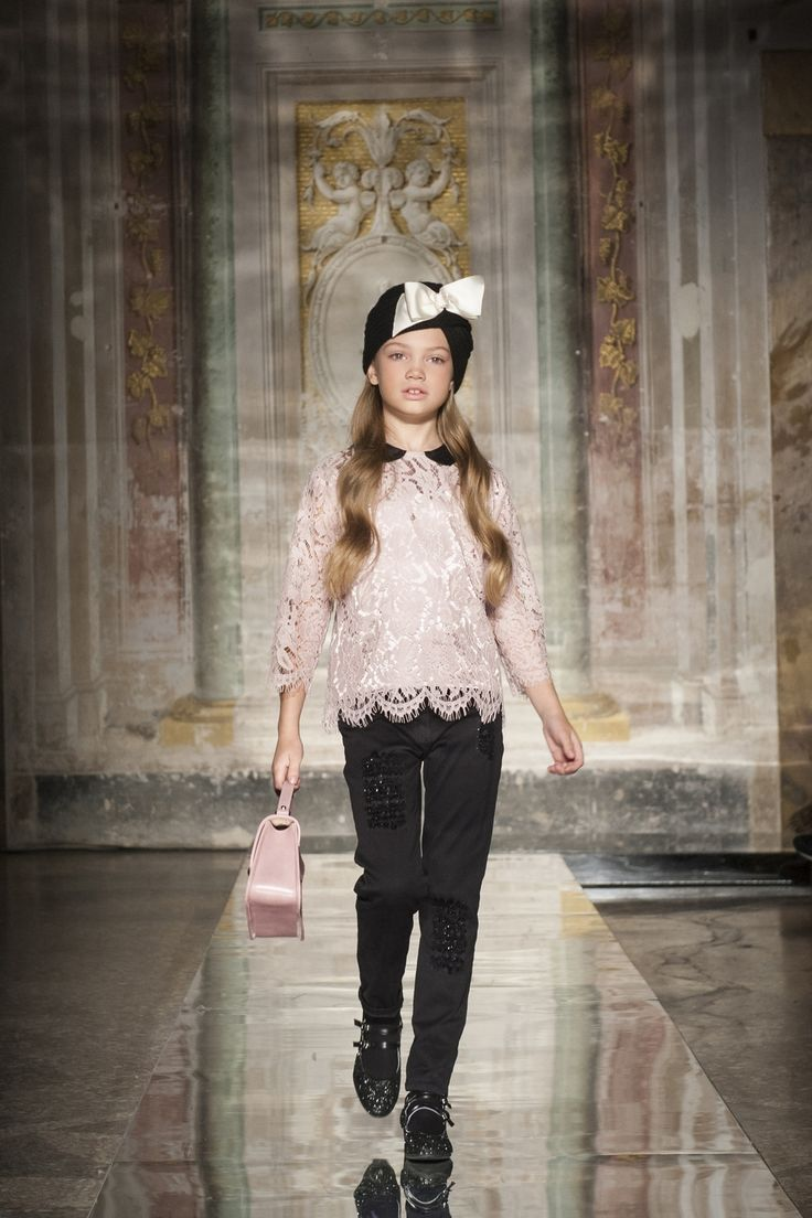 Fashion look from january 2016 featuring pink opaque tights round - Monnalisa Fw2016 Fashion Show Palazzo Corsini Florence 23 January 2016 Monnalisa Fashionshow
