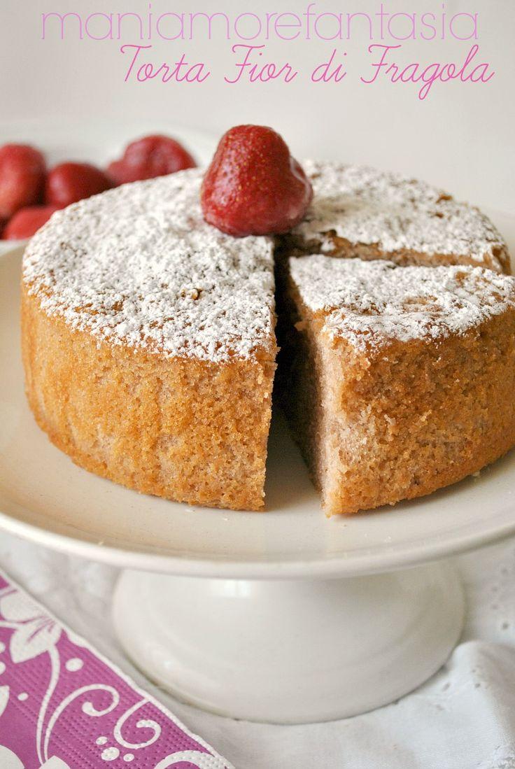 torta fior di fragola, torta di fragole