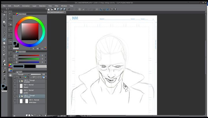 well the mouth looks a bit wierd but for sketch it's fine i guess.  tomorrow ill post the lineart and the final colors  #suicideSquad #TheJoker #joker #suicidéSquad #DCComics #Process