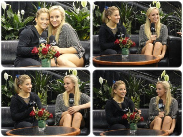 nastia liukin and shawn johnson | AROUND THE GYM POST-SHOW : NASTIA LIUKIN ET SHAWN JOHNSON
