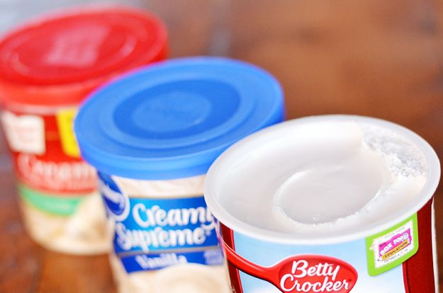 Store-bought canned frosting is scary and magical. | 14 Unexpected Things You Can Do With A Can Of Frosting
