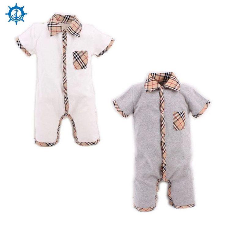 Musim panas Gaya Bayi Laki-laki Baju Monyet Bayi Pakaian bayi piyama Anak Baru Lahir Bayi perempuan Pakaian Ropa Bebe Balita Rompers HB022