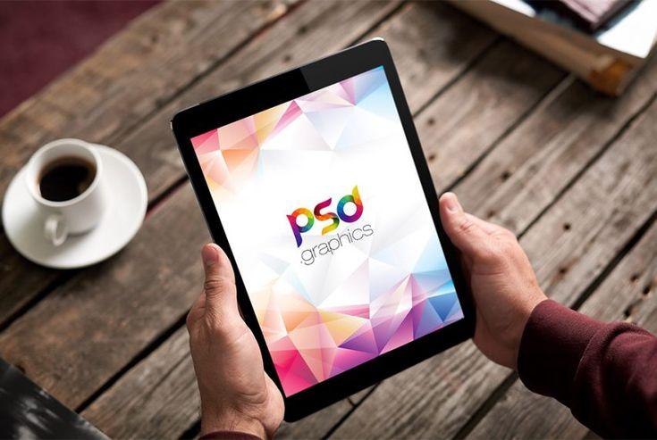 iPad in Hand Mockup Free PSD | PSD Graphics