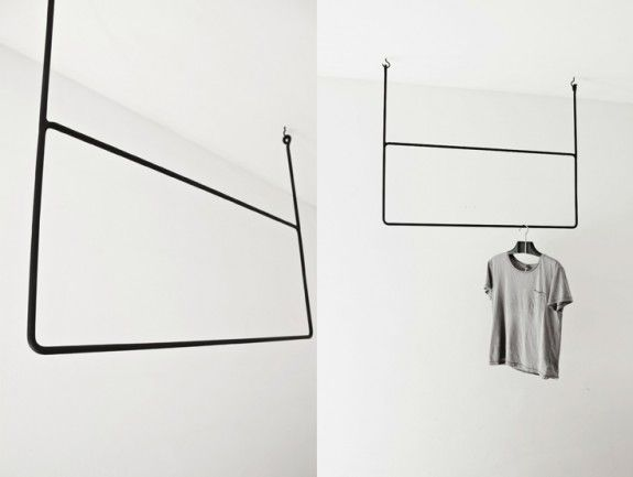 form follows function: Clothing racks