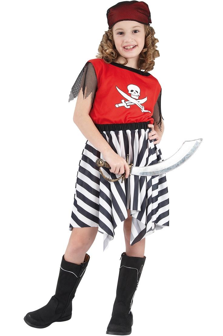 Con este disfraz de pirata, estarás preparada para el abordaje. Disponible en www.vegaoo.es
