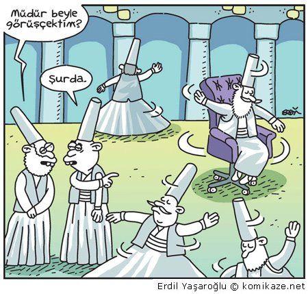 - Müdür beyle görüseçektim? + Şurda. #karikatür #mizah #matrak #komik #espri