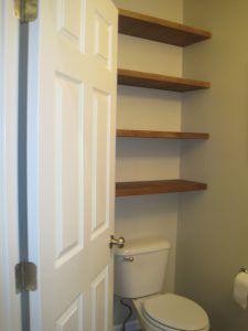 Shelves Above Toilet   – Bathrooms