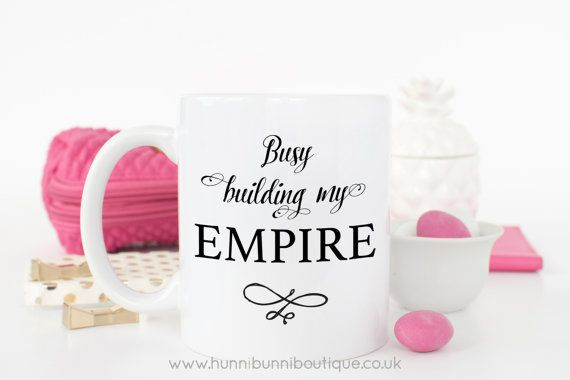 Busy Building My Empire Mug by HunniBunniBoutique on Etsy
