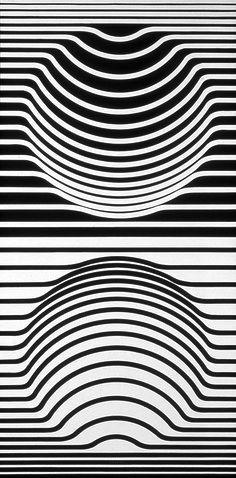 Oeuvre de Victor Vasarely (1906-1997) plasticien hongrois, naturalisé français en 1961, reconnu comme étant le père de l'art optique.