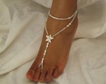 Starfish Crystal Rhinestone Bridal Foot by SubtleExpressions