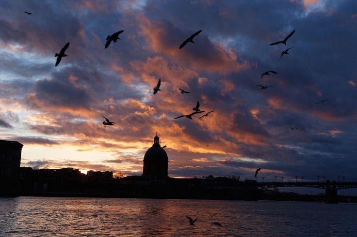 La Garonne et le dôme de la Grave à Toulouse, France © P. Nin - Ville de Toulouse #visiteztoulouse #toulouse