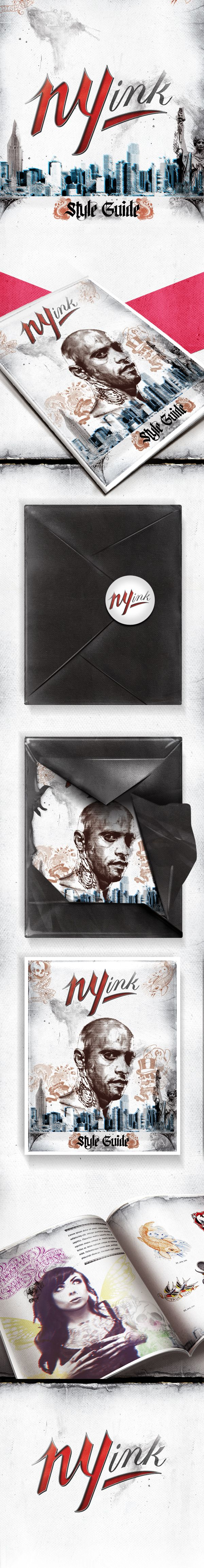 NY INK STYLEGUIDE by Leandro Lima, via Behance