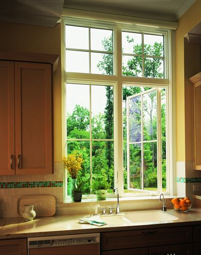 400 Series Casement window with transoms