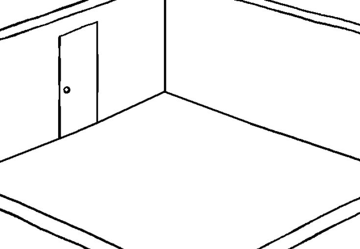 Empty Room Drawing Simple Home