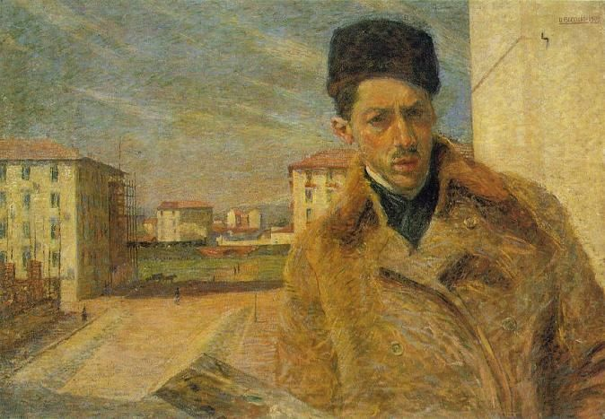 Self-Portrait, Umberto Boccioni, 1908. France