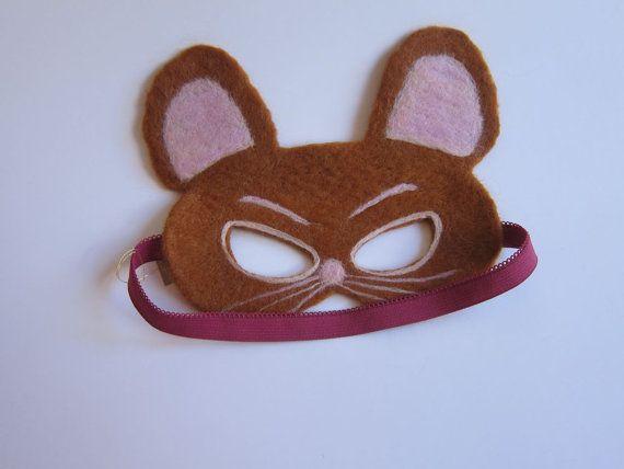 Tom and Jerry Jerry  Felt Mask Needle Felted Merino by FeltandGrain, $45.00