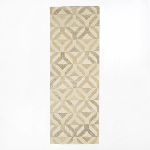Marquis Wool Rug - Natural | West Elm 2.5' x 7' runner $149 on sale for $104 hallway runner? Would take two. Or a 4 x 6 might be just right for the seating area in the master with two white slipcovered chairs from IKEA and a small table in between. Do these neutrals work with your wall neutrals?