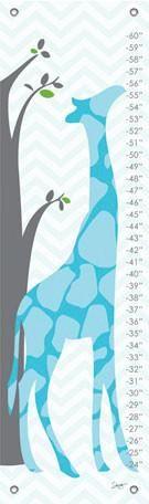 Modern Giraffe - Blue Growth Charts