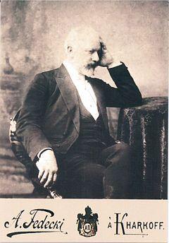 Чайковский, Пётр Ильич — Чайковский в Харькове. 1893. Фотопортрет А. Федецкого
