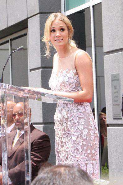Carrie Underwood and Simon Fuller - Simon Fuller on the Hollywood Walk of Fame